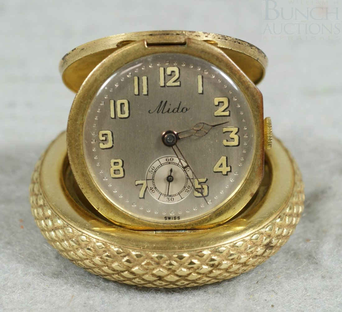 6A: A rare Mido Bugatti wheel pocket watch, late 1920s, - 3