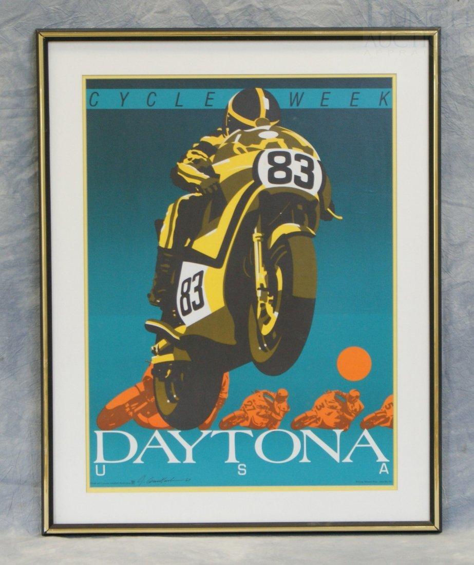 8: Daytona USA Cycle Week Poster, design and concept by