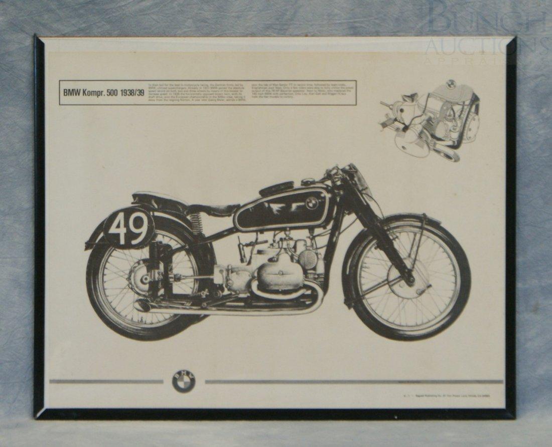 """9: BMW Komper 500, 1938/39 poster, 16 1/2"""" x 20"""""""