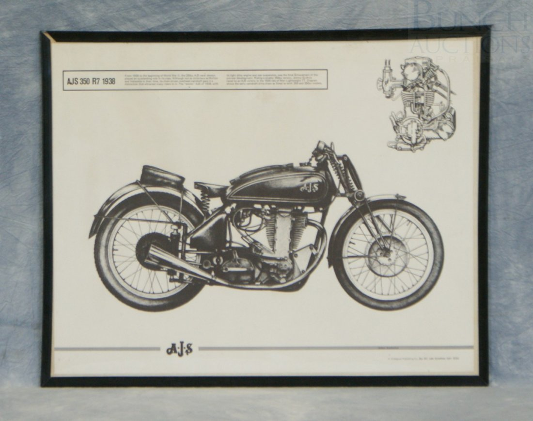 "12: AJS 350 R7 1938 poster, 16"" x 20"""