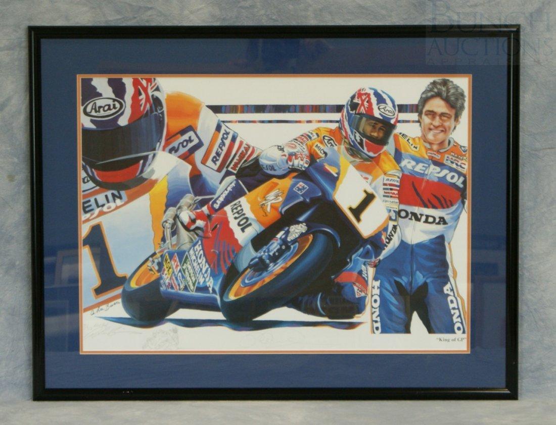 "15: A Lee Bivens print  ""King of GP"", artist proof 7/50"