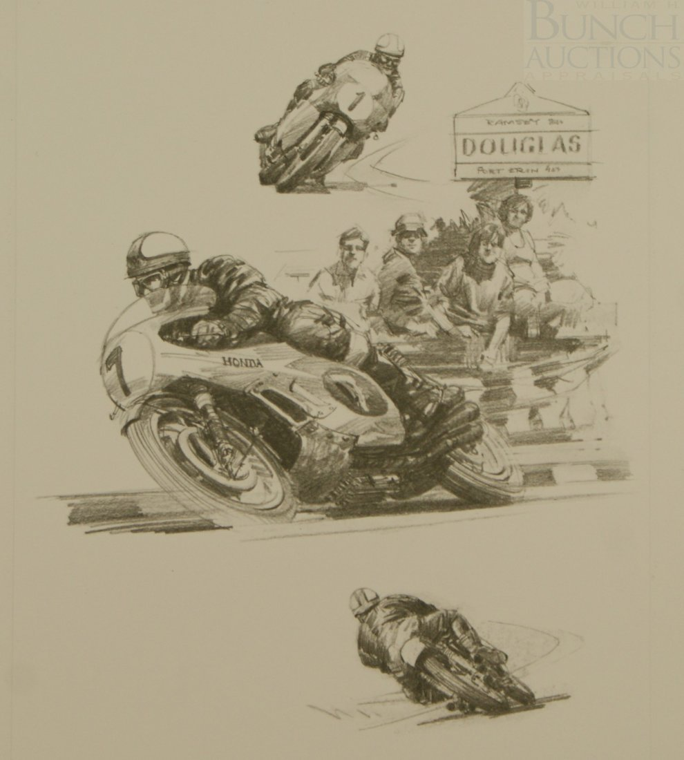 15A: Michael Turner, English, LE lithograph on Donningt - 2