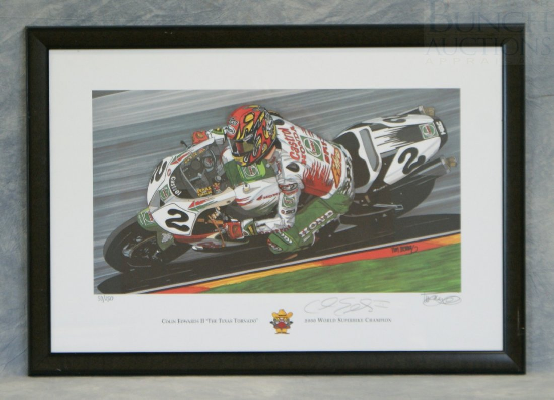 "20: Tim Berry print ""Colin Edwards II ""The Texas Tornad"