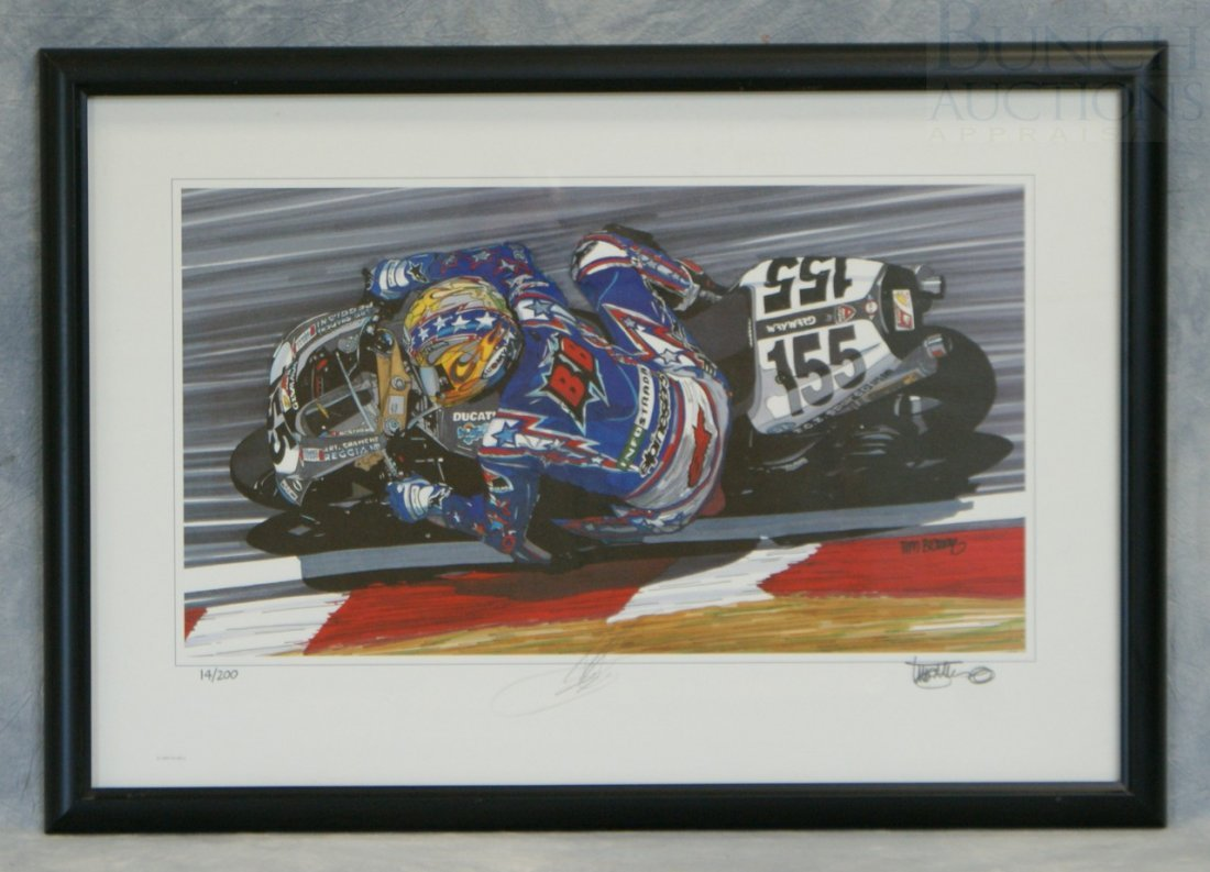 21: Tim Berry print of Ben Bostrom 14/200, signed by Ti