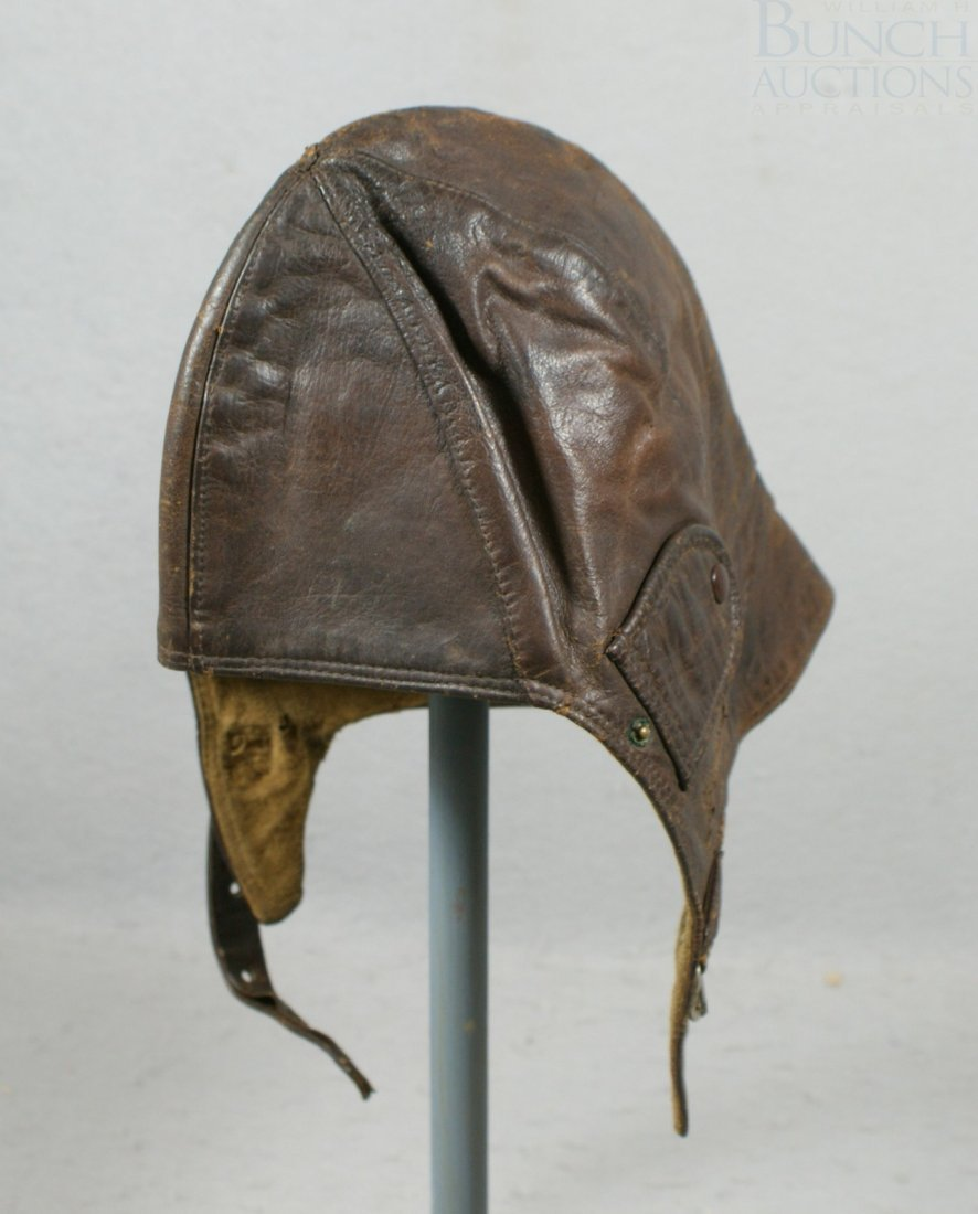 32A: Brown leather riding hat, good condition