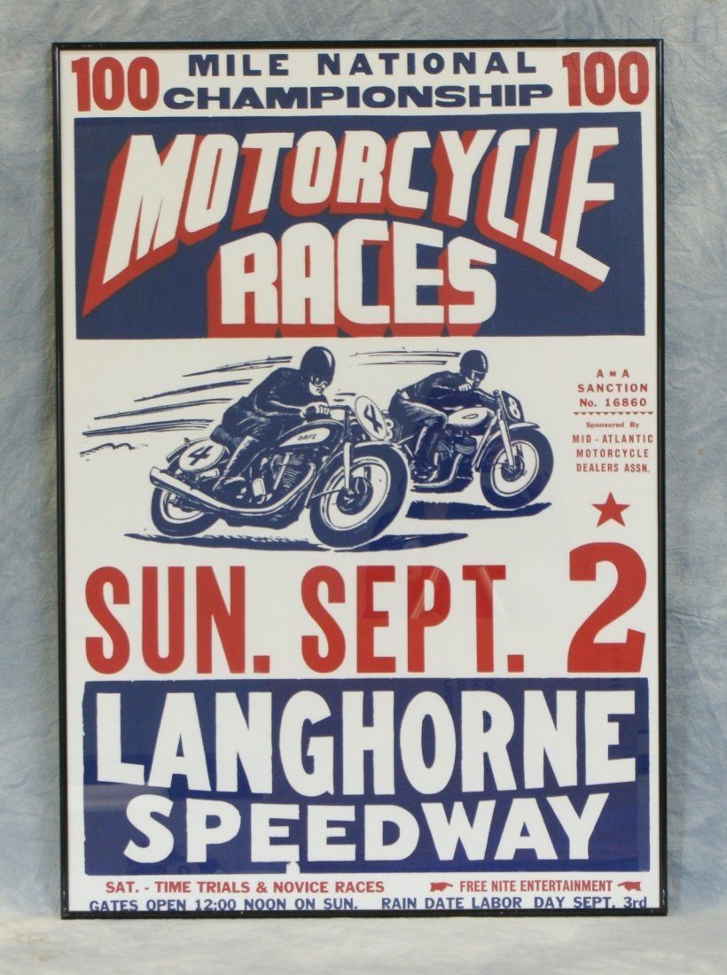 60: 100 Mile National Championship Motorcycle Races Sun