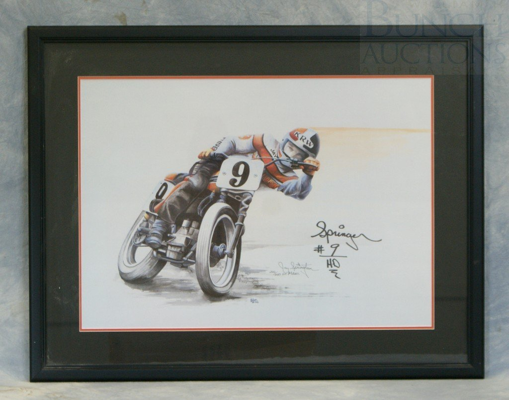 65: HF Miller signed print, featuring & signed by Jay S