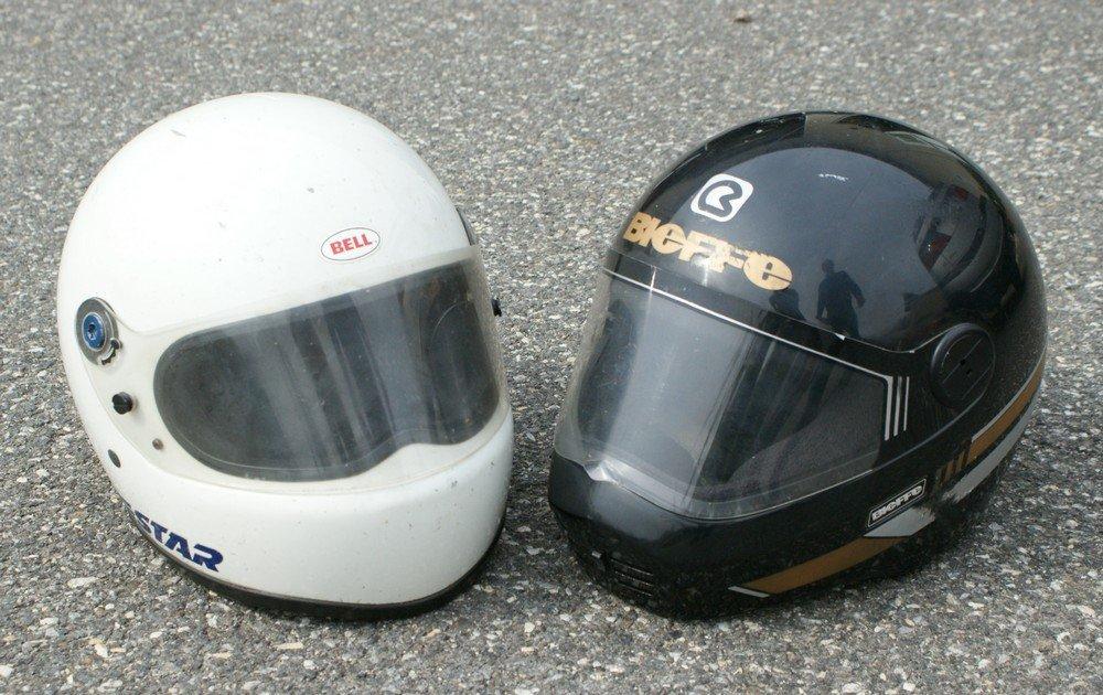 186: (2) 1970'2 Full face helmets classic bell star & o