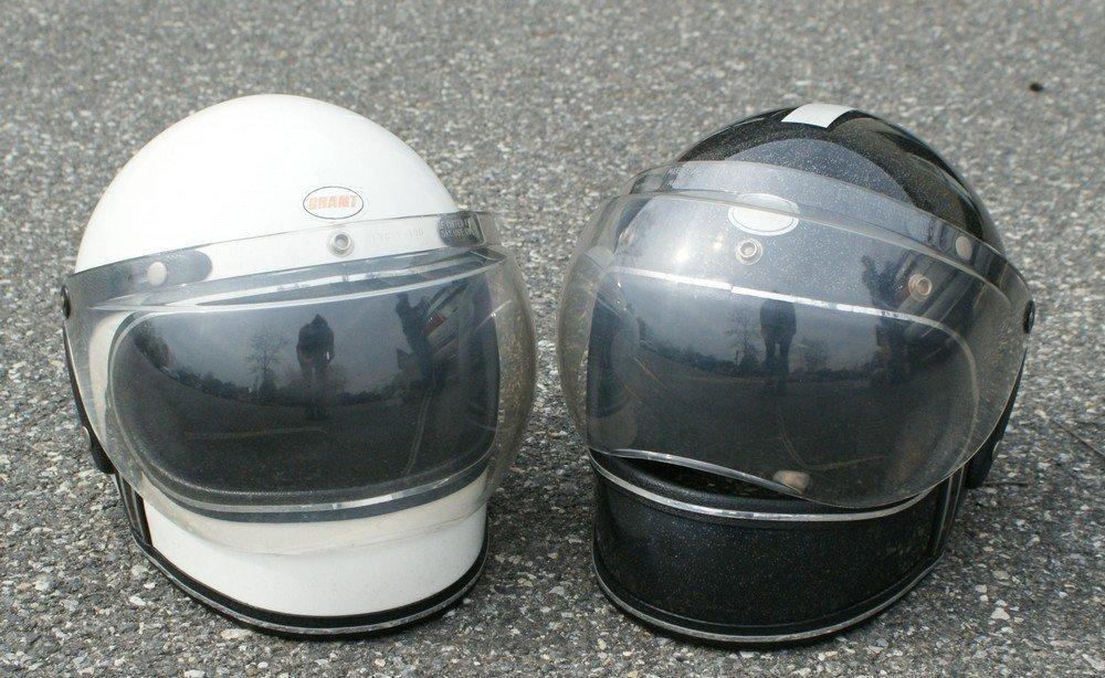 187: (2) 1980'2 Grant full face helmets men & womens sz