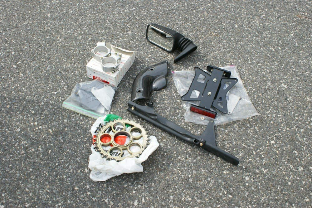 188: Box Ducati parts – new carbon fibre heat shield fo