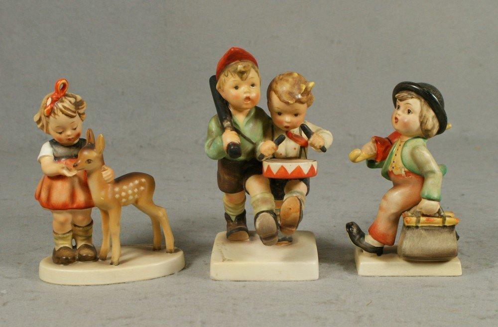 """3015: (3) Hummel figurines, """"Merry Wanderer"""", no 11, TM"""