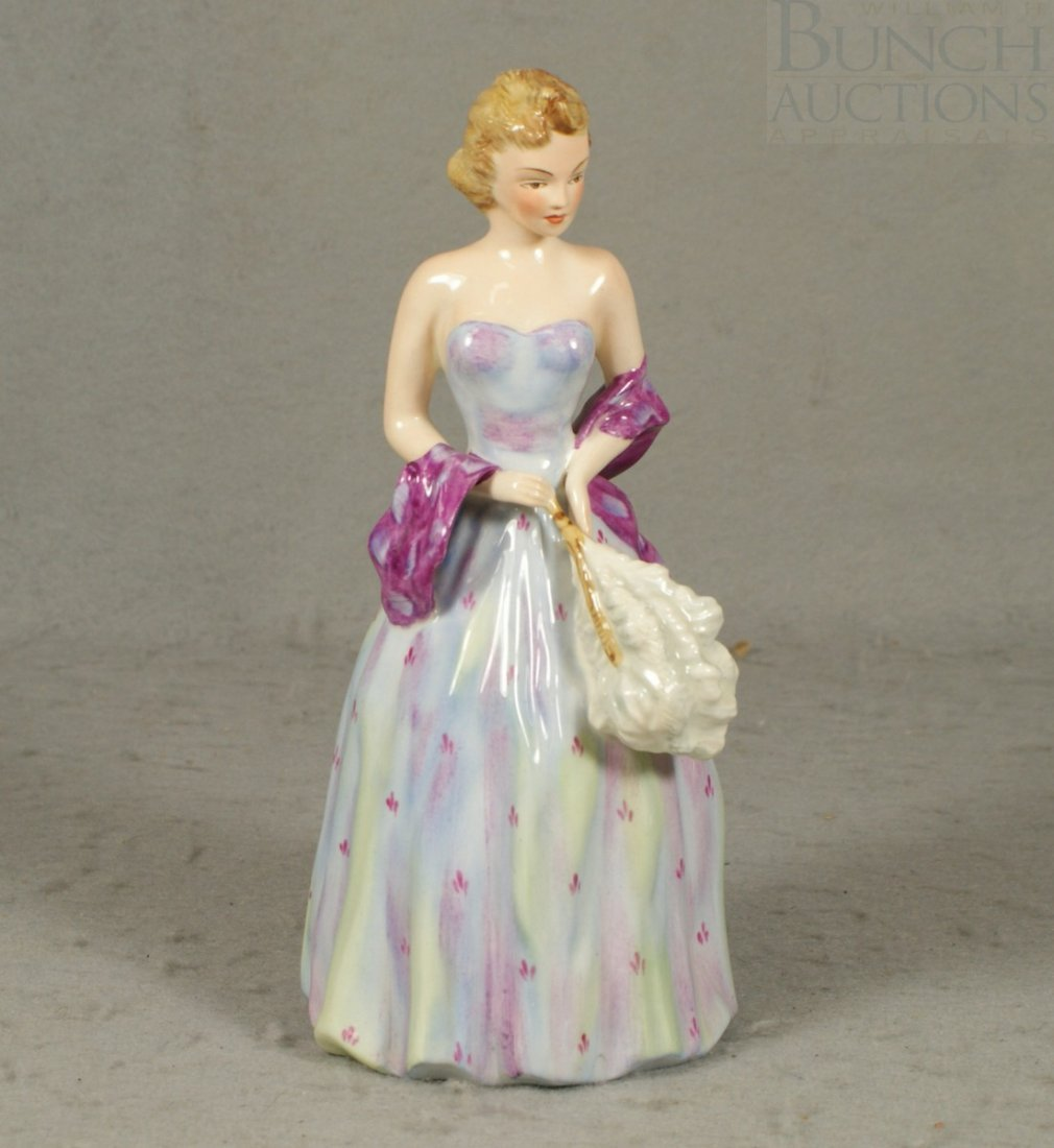 "3042: Wedgwood, lady ""Elaine"" figurine, 8"" h"