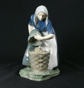 Royal Copenhagen Figurine, Woman Collecting Potat