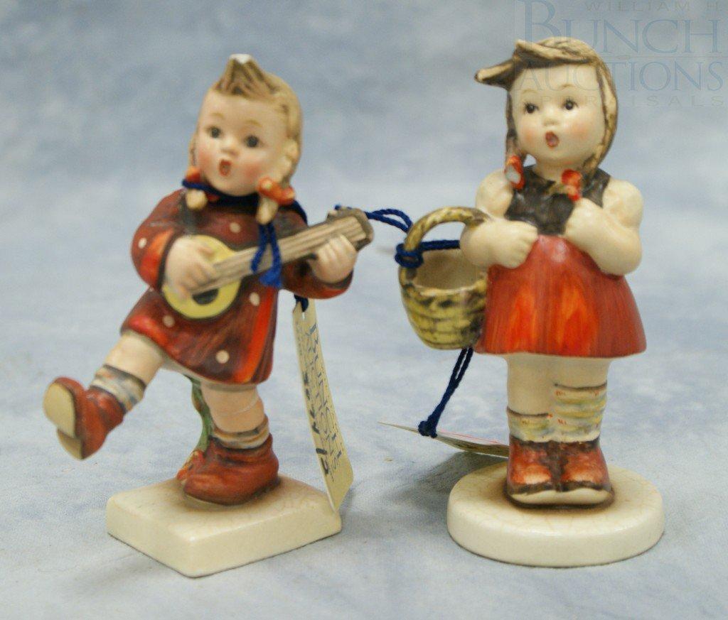 """3074: (2) Hummel figurines """"Little Shopper"""" no 96, 4 3/"""