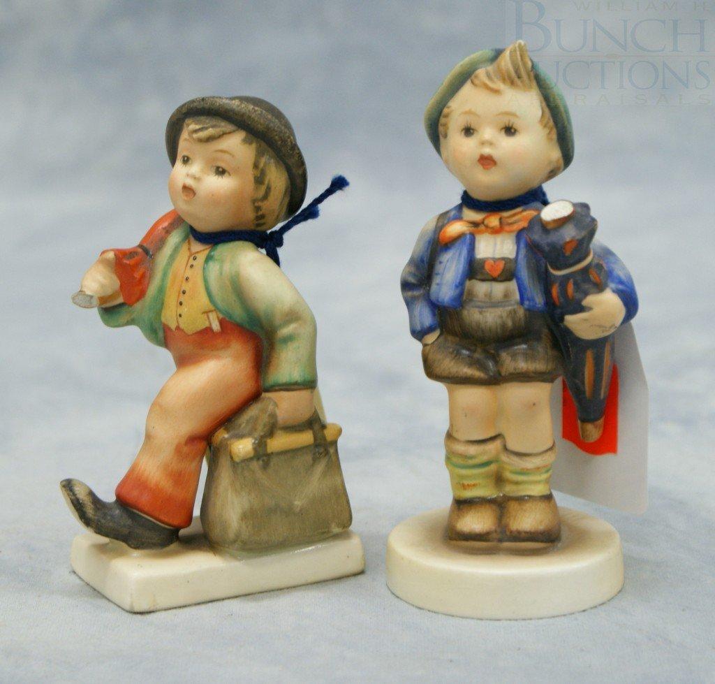 "3077: (2) Hummel figurines ""Merry Wanderer"" no 11 2/0,"