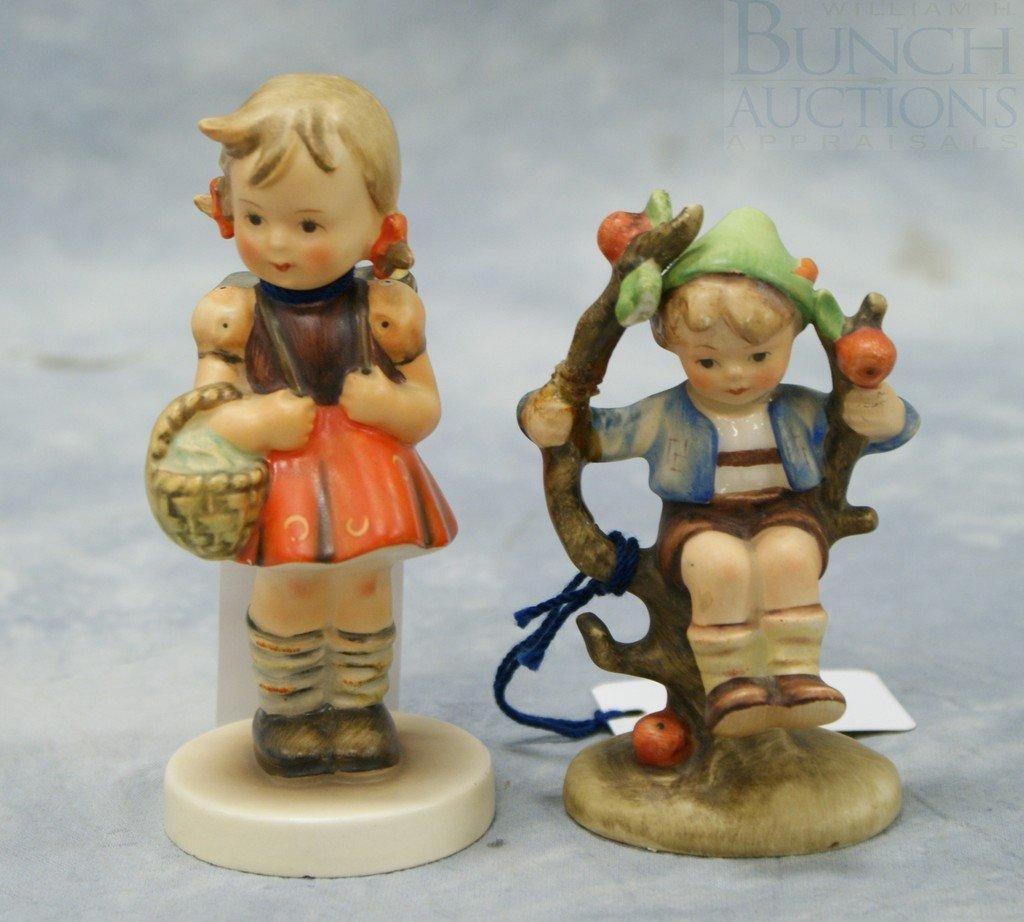 """3080: (2) Hummel figurines """"School Girl"""" no 81 2/0, 4 3"""