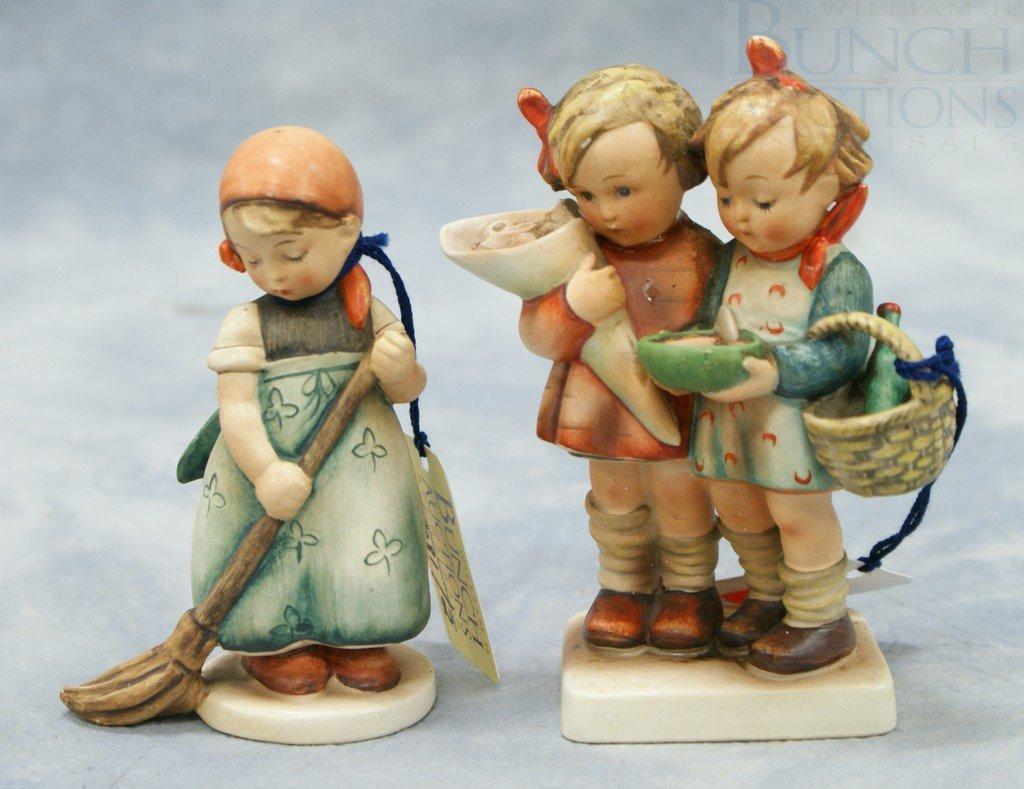 "3081: (2) Hummel figurines ""Little Sweeper"" no 171, 4 1"