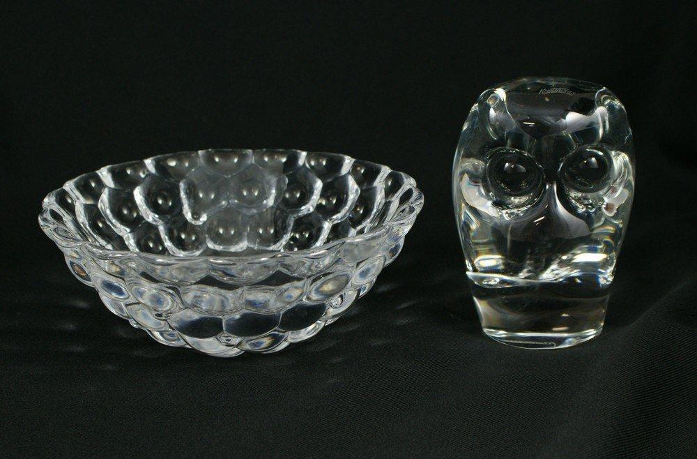 "3101: Orrefors crystal bowl, 7 1/4"" d, Kristaluxus crys"