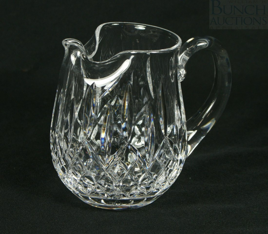 """3103: Waterford Lismore pattern pitcher, 6"""" tall"""