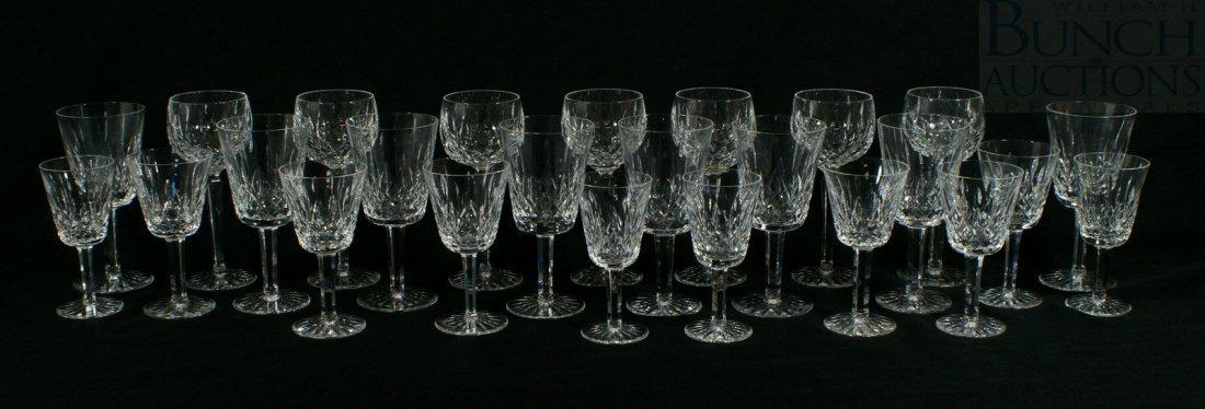 3104: (25) Waterford Lismore pattern crystal drinking g
