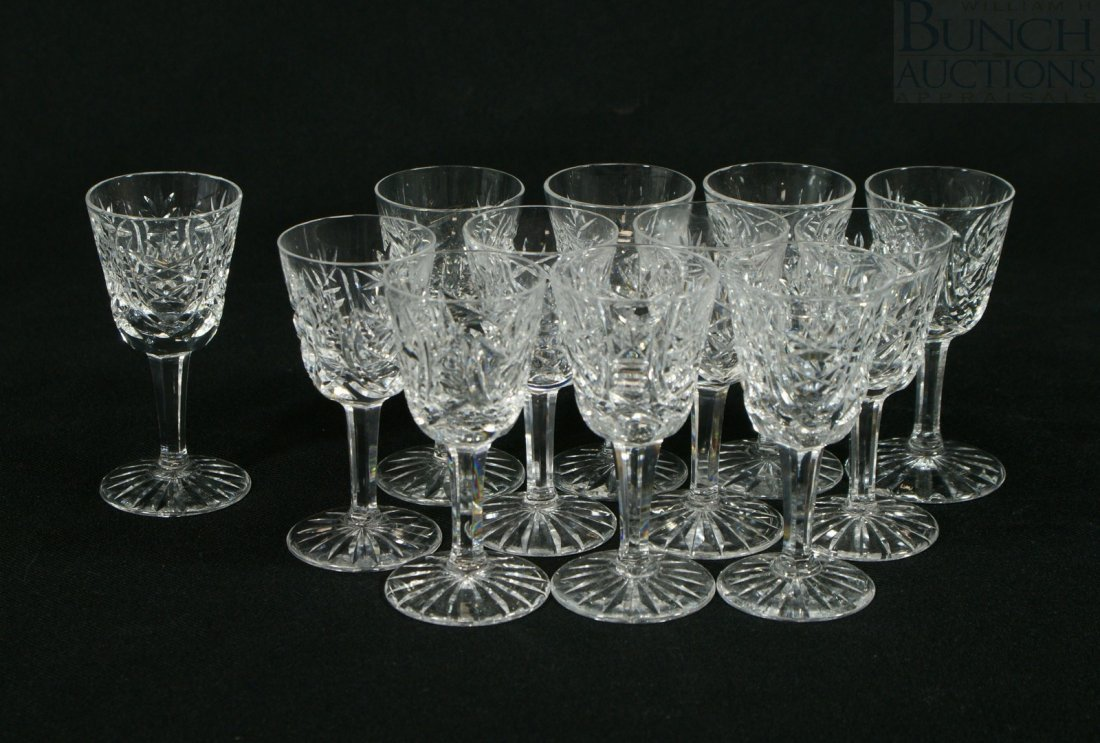 3105: (12) Waterford Clare pattern sherry/cordial glass