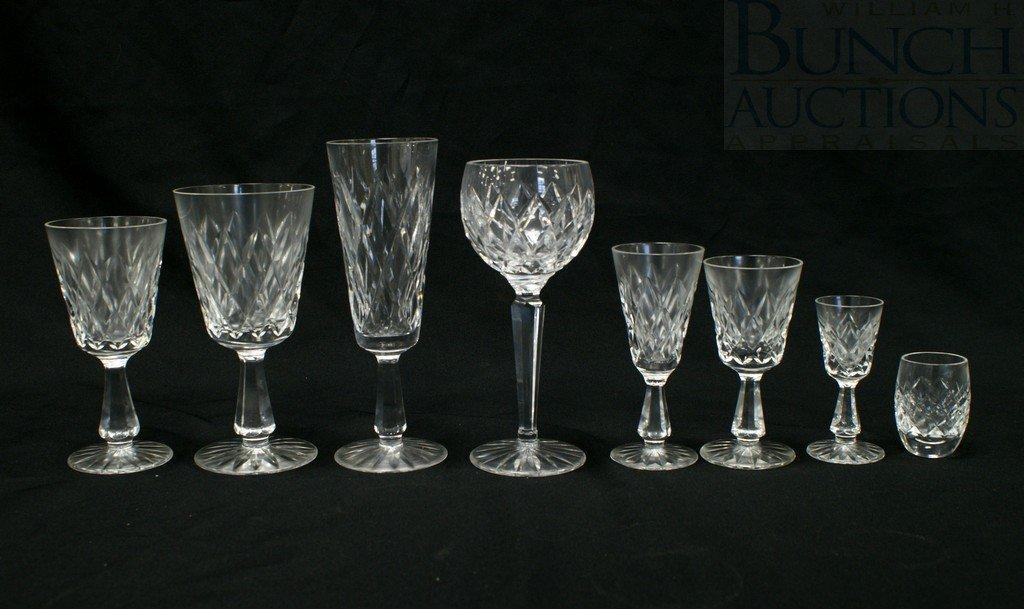 3106: (72) Waterford Kinsale pattern stemware, 9 goblet
