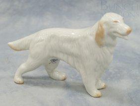 Belleek Irish/English Setter Porcelain Figurine,
