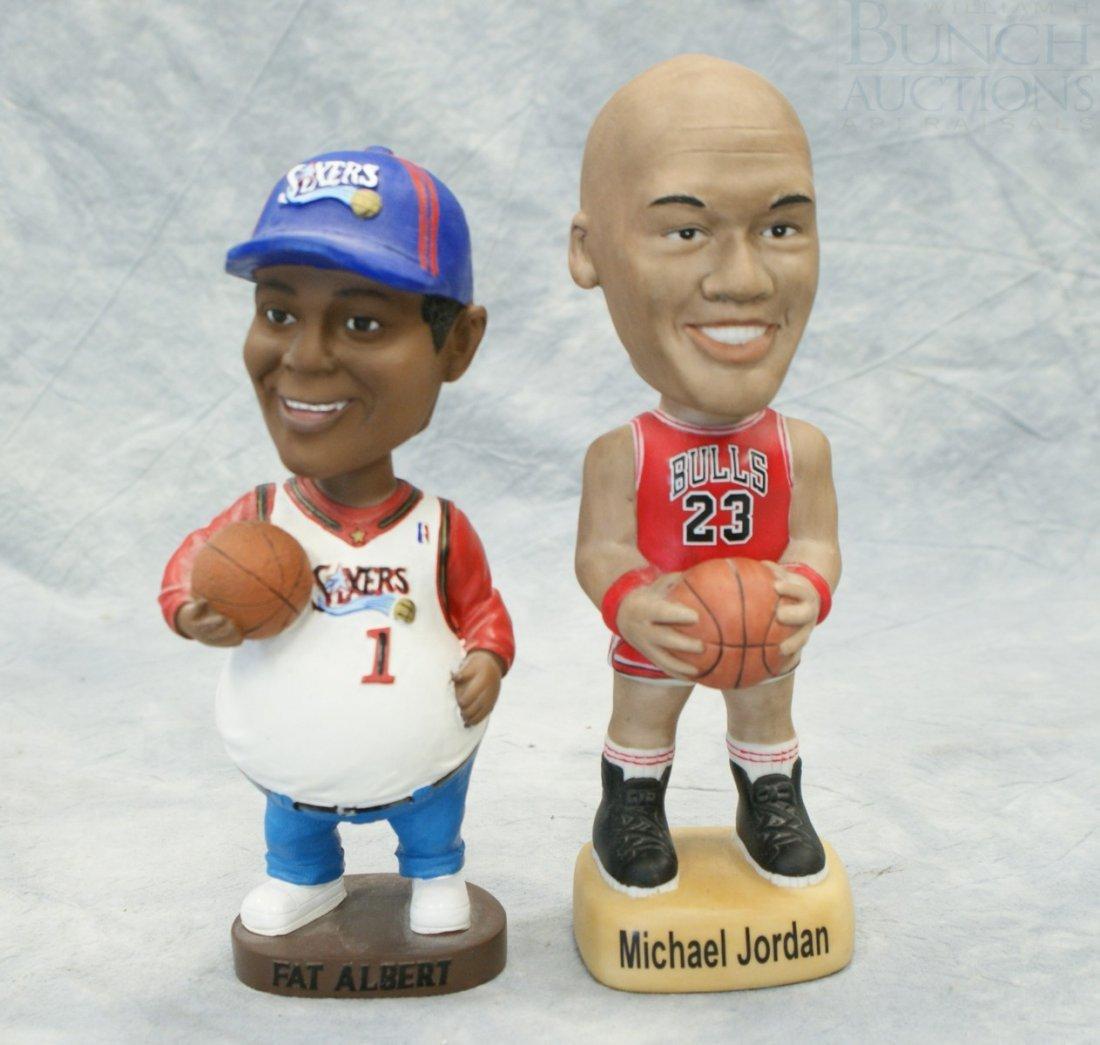 3325: 2 Basketball Bobble Head Dolls, Michael Jordan Ch