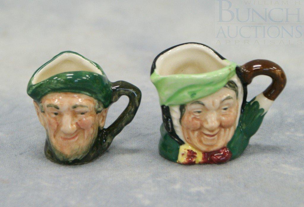 3005A: (2) Royal Doulton miniature toby jugs, Sairey Ga