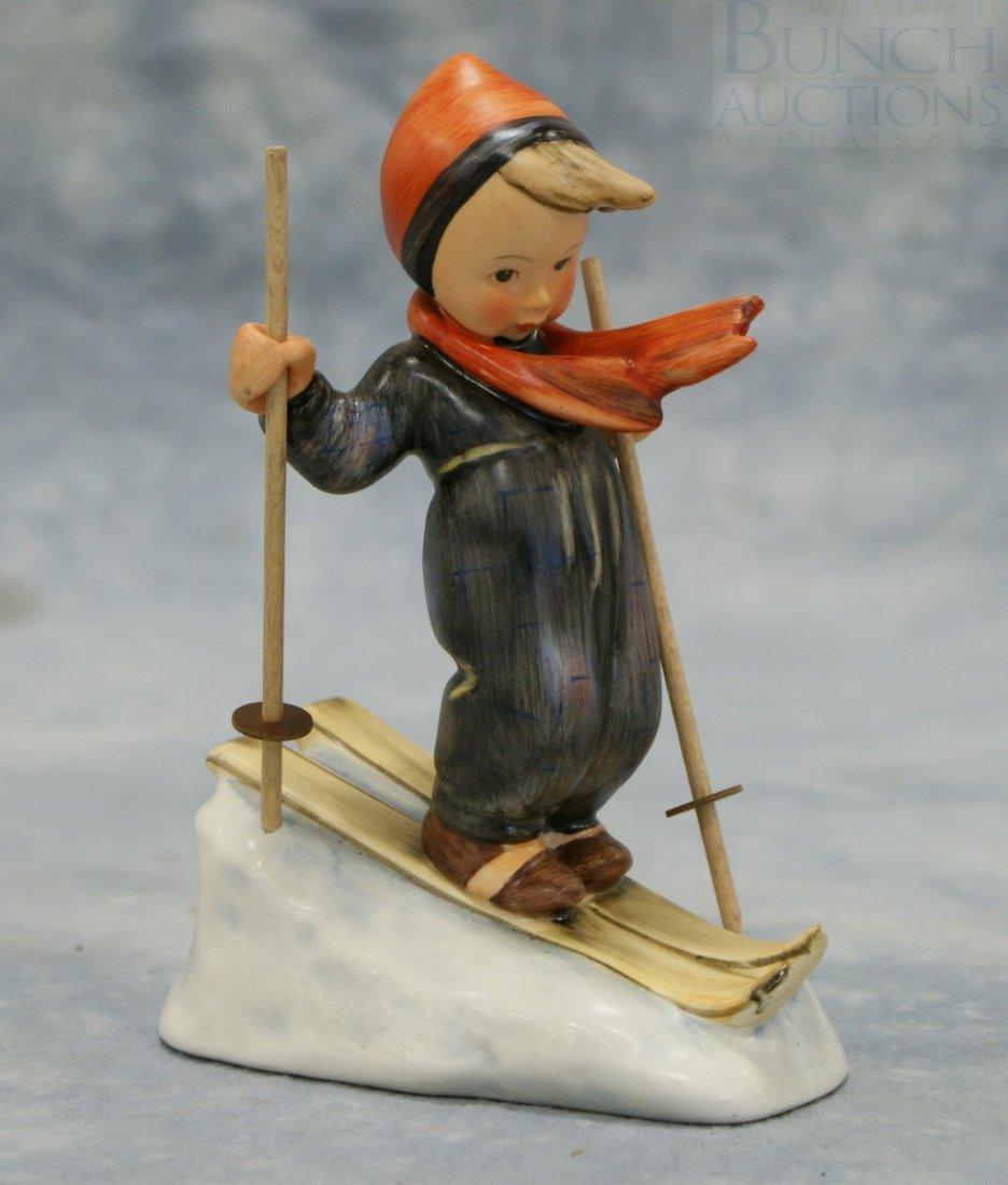 "3092: Hummel figurine, ""Skier"" no 59, full bee TMK-2, 6"