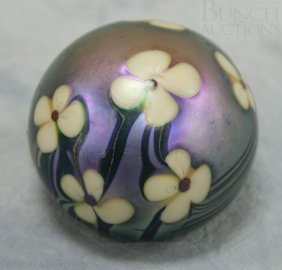 Orient & Flume Art Glass Paperweight, Signed And