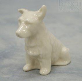 Belleek Scottish Terrier Figurine, Green Mark, 3