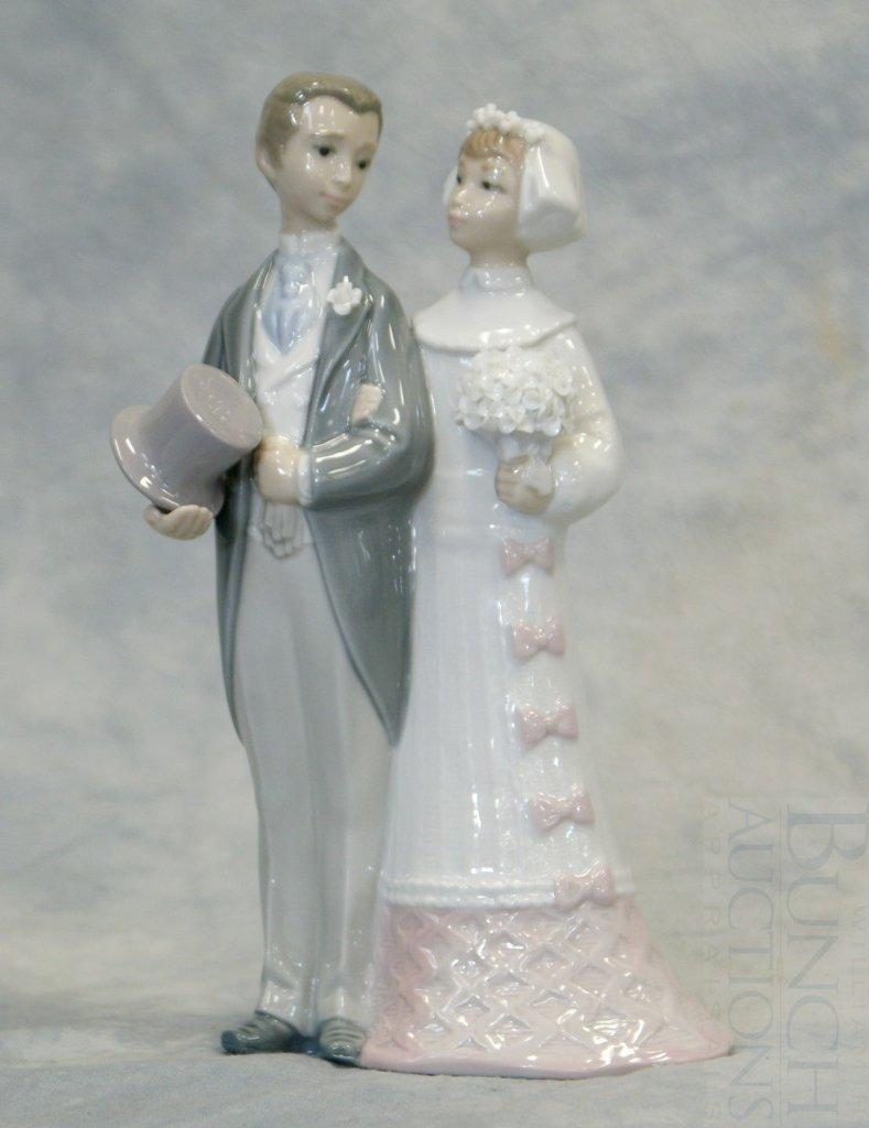 "3048C: Lladro Wedding figurine #4808, 7 1/2"" h"