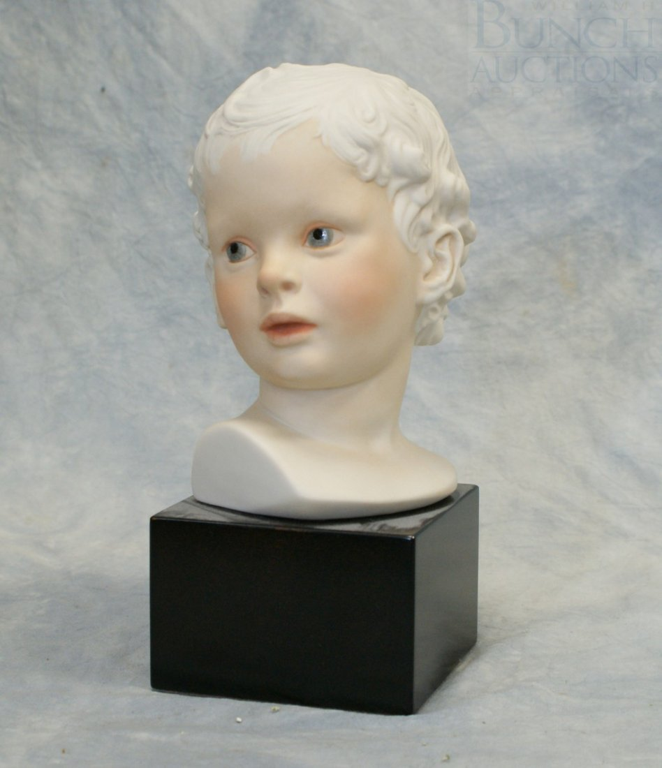 "3069B: Cybis Eros Boy Bust bisque porcelain, 9 1/2"" h"