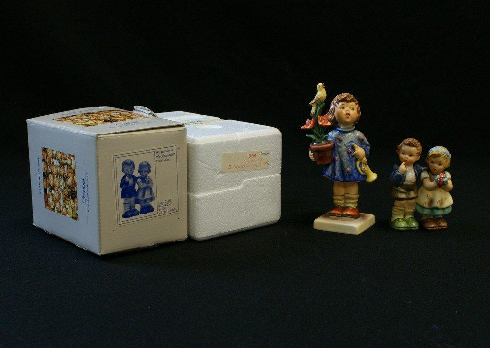 3153: (2) Hummel Figurines, 'We Congratulate' Hum 214/E