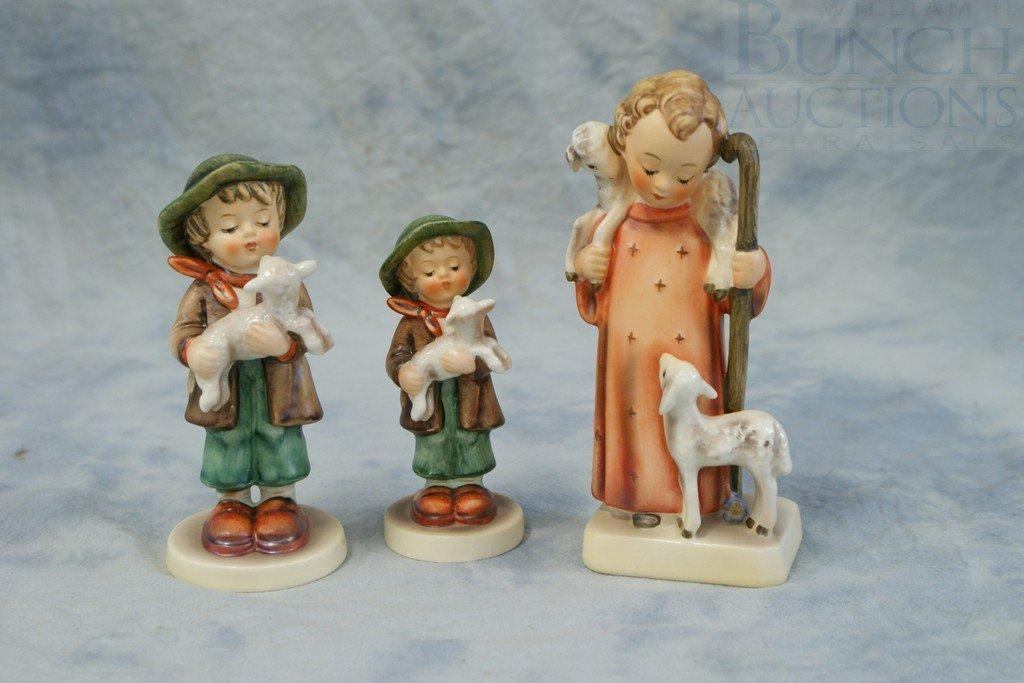 3153J: (3) Hummel figurines, Lost Sheep, TMK3, 68/0, Lo