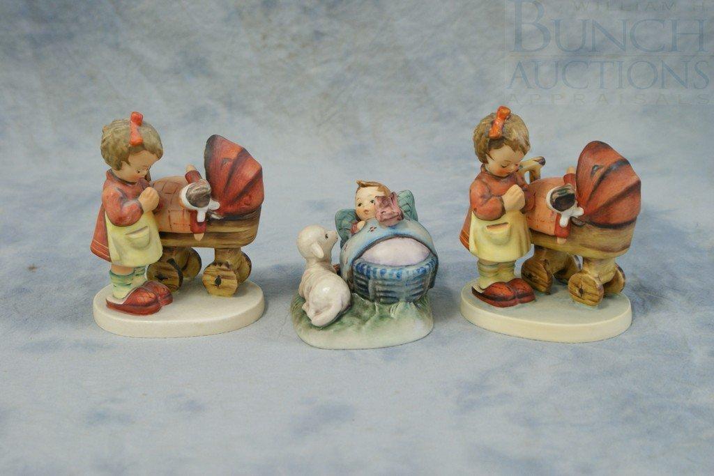 3153K: (3) Hummel figurines, 2- Doll Mother 67, TMK/3,