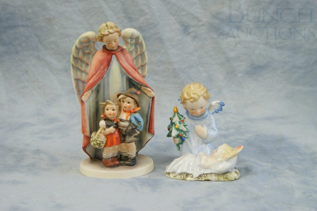 3153R: (2) Hummel figurines, Heavenly Protection, 88/1,