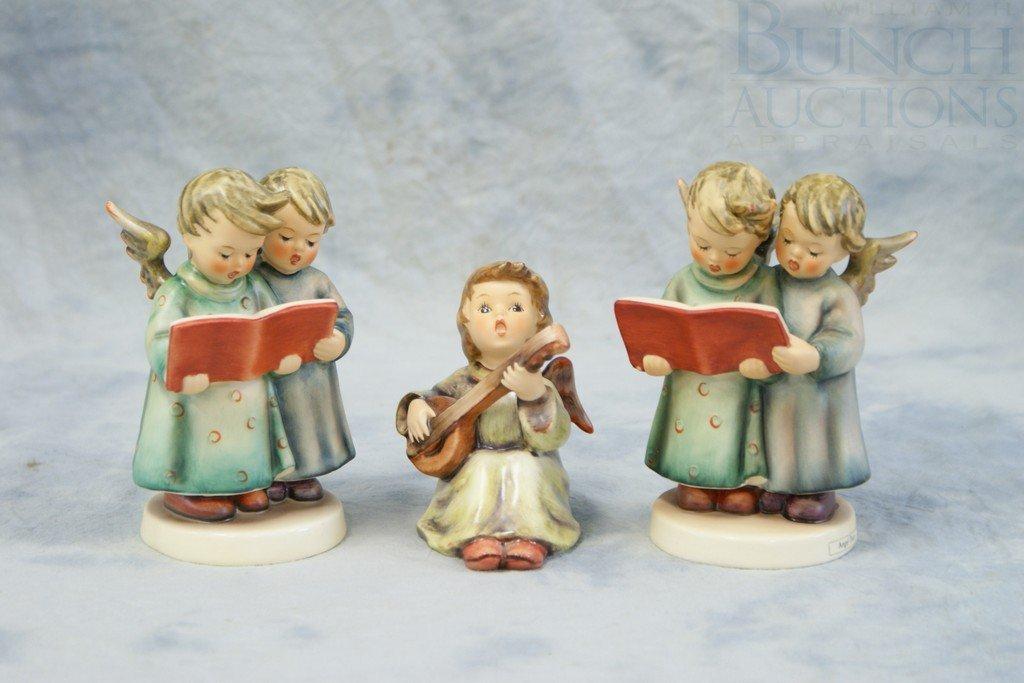 3153T: (3) Hummel figurines, 2 Angel Duet, 261, TMK4, T