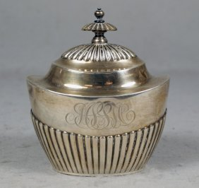 Gorham Sterling Silver Sugar Bowl With Hinged Lid