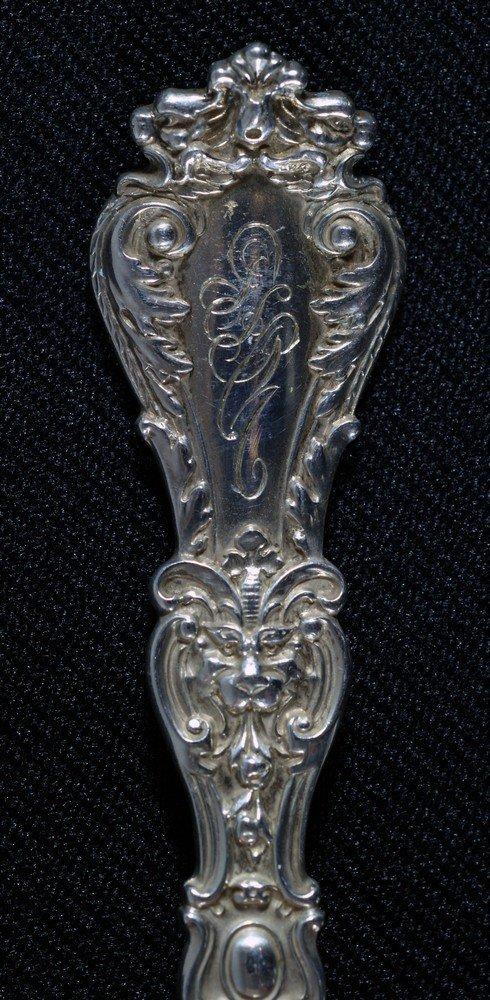 4060: 11 Gorham sterling silver teaspoons, pat 1900, mo - 2