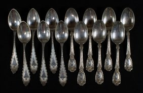 7 Gorham Sterling Silver Teaspoons With 6 Bright