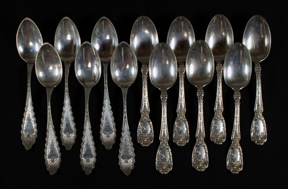 4062: 7 Gorham sterling silver teaspoons with 6 bright