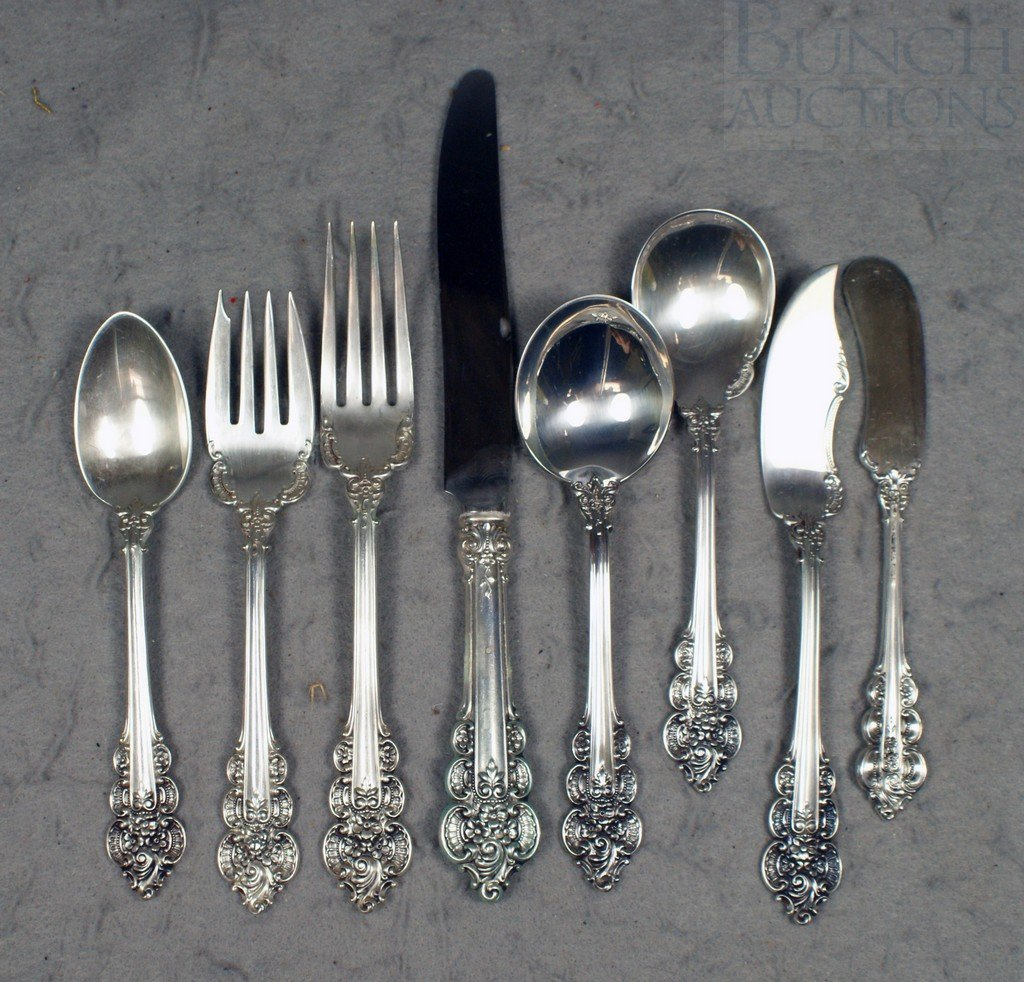 4028: 50 pcs Frank M Whiting Boticelli sterling silver