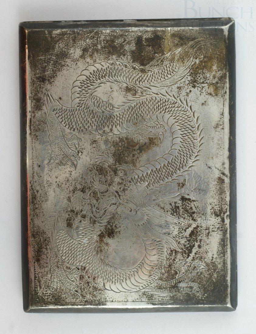 Chinese Export silver cigarette case, CJ & Co, sterling