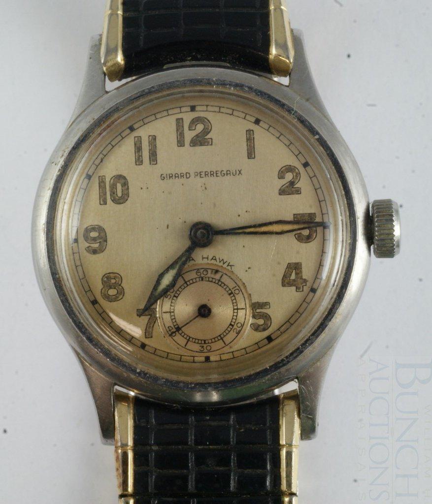 4095: Girard Perregaux Seahawk 17 j wrist watch, stainl