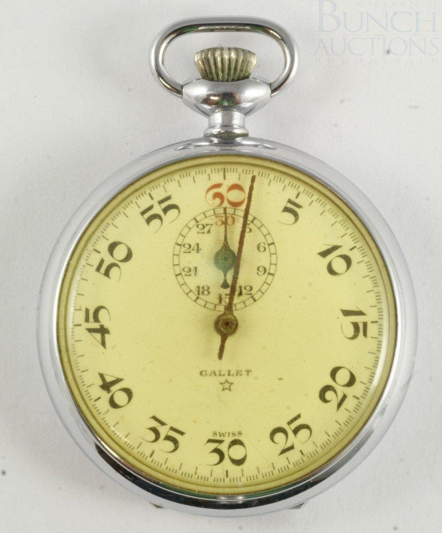 4099: Swiss Gallet 7 j stop watch, movement marked Jule