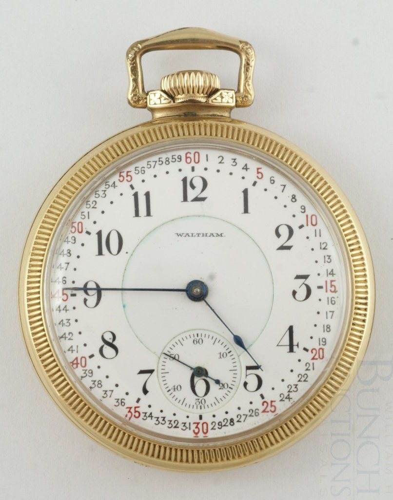 4100K: American Waltham YGF OF 16S pocket watch, 21j 64