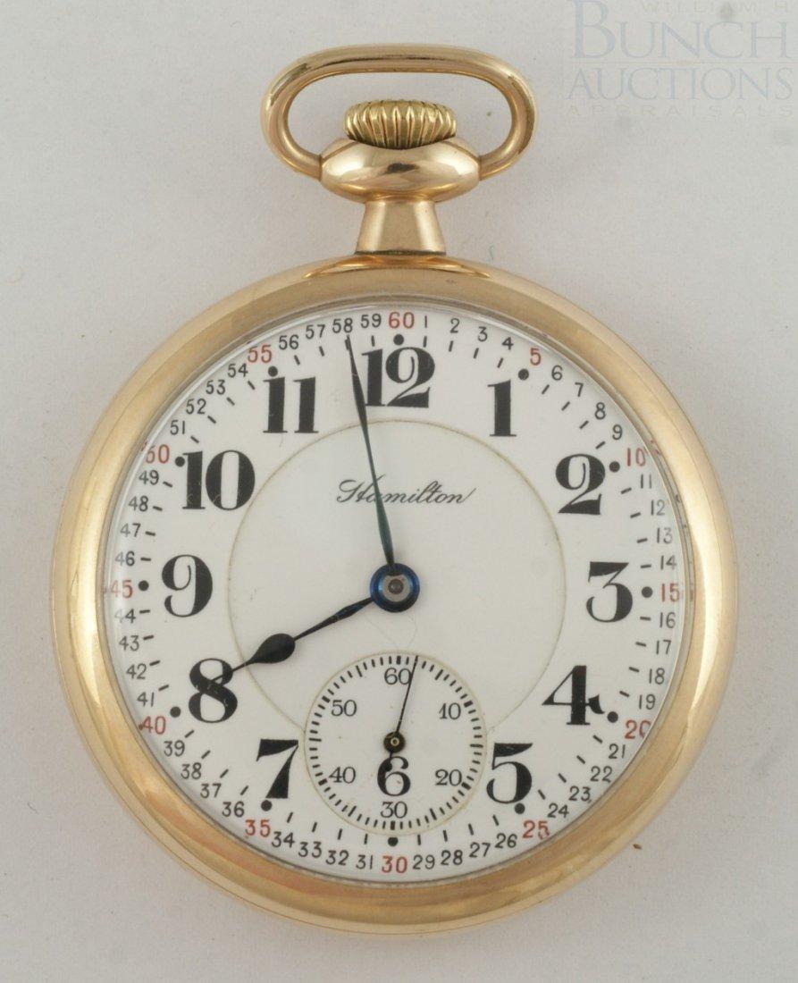 4100L: Hamilton YGF 16S OF pocket watch, 992 21j moveme