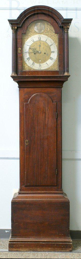 4194A: Mahogany Georgian brass dial 8 day tall case clo